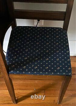 Vintage Telephone Table Gossip Bench Seat with Lamp Light & Seat Switch WORKS