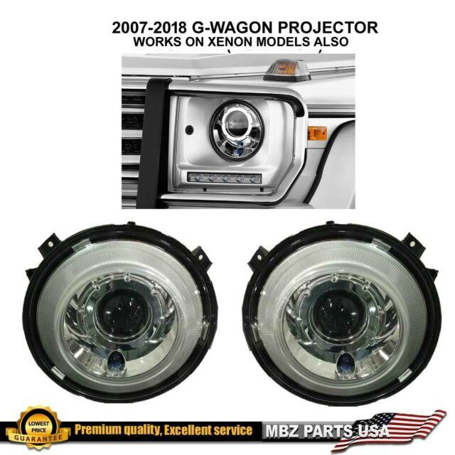 W463 G-wagon Project Headlights Amg G550 2007-2018 Works With Hid Xenon Pair